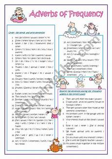 grammar worksheets adverbs of frequency 24690 adverbs of frequency esl worksheet by teresahmariah