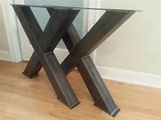 pieds de table design metal table legs 4 steel table legs oversize x metal