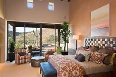 luxury home plan with impressive features 66322we tucson custom home hacienda floor plan rustic bedroom
