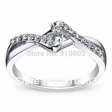 real 0 1ct diamond engagement ring 14k white gold promise ring brilliant diamond jewelry
