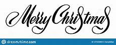 merry christmas vector calligraphic lettering black white greetings design for card template