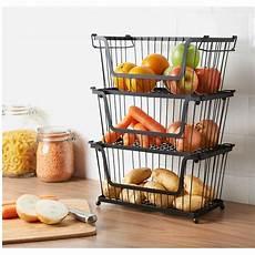 Kitchen Counter Gifts by Stackable Basket Kitchen Accessories Storage B M