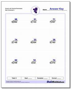 division of decimals worksheets for grade 4 6548 division with decimal results