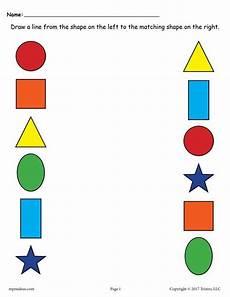 matching worksheets 15552 6 free shapes matching worksheets matching worksheets shape worksheets for preschool shapes