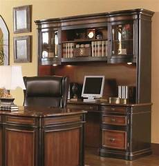 desk with credenza executive credenza desk hutch w glass doors two tone