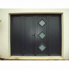 porte de garage 3 vantaux pvc les menuiseries exterieure