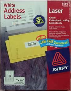 avery 1 quot 2 5 8 quot white address laser labels 5560 5160 8160 4 050 labels ebay