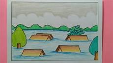 Cara Menggambar Bencana Banjir