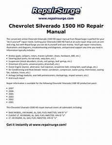 car repair manual download 2003 chevrolet silverado 1500 interior lighting chevrolet silverado 1500 hd repair manual 2001 2007