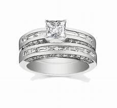 attractive cheap diamond wedding ring 2 carat princess cut diamond gold jeenjewels