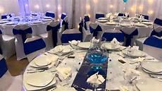 deco table mariage et blanc d 233 co salle bavans bleu roy