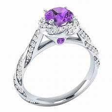 purple diamond wedding rings 14k white gold 1 ct real purple amethyst certified diamond engagement ring ebay
