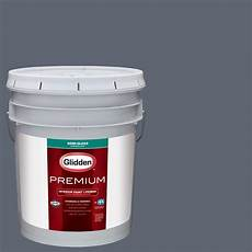 glidden premium 5 gal hdgcn47 blue grey slate gloss interior paint with primer hdgcn47p