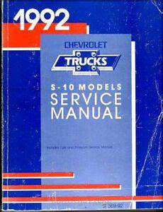 how to download repair manuals 1992 chevrolet s10 seat position control 1992 chevrolet s 10 pickup and s10 blazer shop manual oem