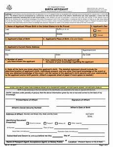 form ds 10 download printable pdf birth affidavit templateroller
