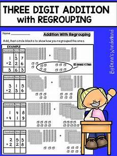 addition with regrouping worksheets with base ten blocks 9691 three digit addition with regrouping with base ten blocks by s
