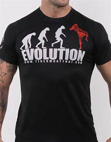 tiger muay thai t shirt quot evolution quot soft tech black