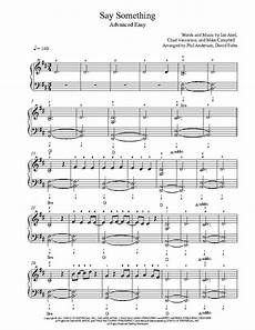 say something by a great big world and aguilera piano sheet music advanced level