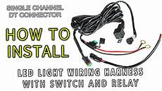lite battery wire harness led light wiring harness with switch and relay single channel dt connector