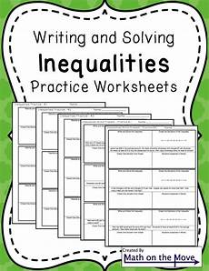 algebra worksheets inequalities 8439 inequalities notes and practice includes word problems word problems teaching math