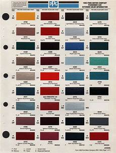 1993 ford exterior paint chips stock ford aerostar lincoln continental paint color chart