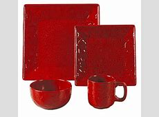 (HXDI4001RD) ''Savannah Red'' Dinnerware Set   16 pcs