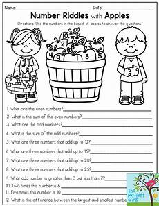 riddle worksheets high school 10914 number riddles with apples use the numbers in the basket of apples to answer the questions