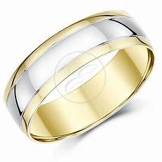 9ct two colour gold court shape wedding ring band ebay