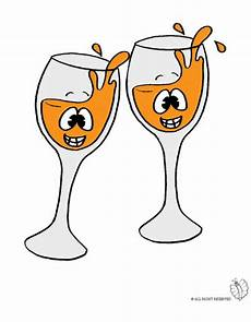 disegni di bicchieri disegno di brindisi a colori per bambini