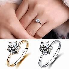 simulated diamond wedding rings crystal finger rings gold intl lazada ph
