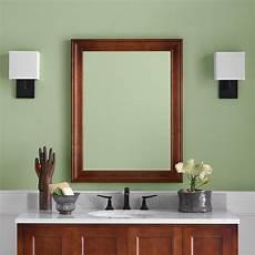 bathroom mirror wood 27 quot william traditional solid wood framed bathroom mirror