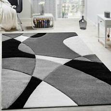 tappeti neri moderni abstract grey rug modern design black white pattern thick