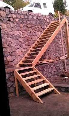 Extérieur Bois Escalier Exterieur En Bois