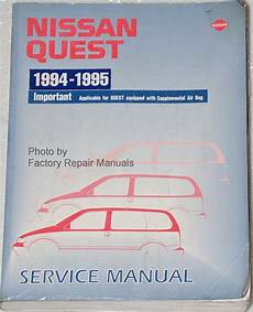 how to download repair manuals 1993 nissan quest seat position control 1994 1995 nissan quest factory service manual original shop repair factory repair manuals