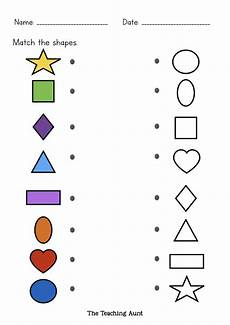 matching worksheets 15552 matching shapes worksheets the teaching