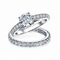 bling jewelry 925 silver bridal solitaire cz engagement