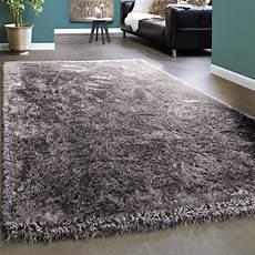 hochflor teppich shaggy edler teppich shaggy einfarbig grau teppich de