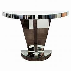 console deco deco mirrored console table with skyscraper pedestal