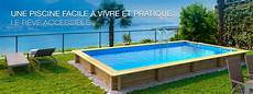 Piscine Hors Sol Bois Weva Rectangle Proswell