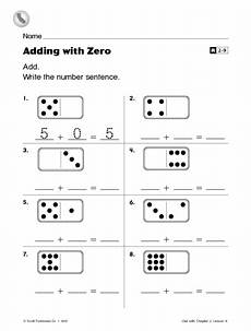 adding with zero worksheet for 1st 2nd grade lesson planet