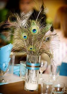 diy wedding centerpieces with peacock feathers wedding wednesday flower free centerpieces ideas events
