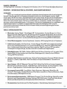 electrical engineer resume latest template in word format