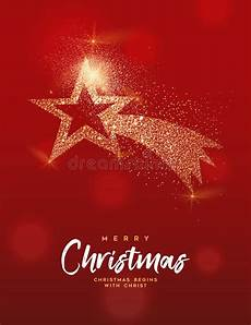 merry christmas gold glitter star greeting card stock vector illustration of greeting card