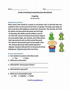 frog day second grade reading worksheets reading comprehension worksheets comprehension