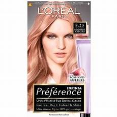 Loreal Feria 3d Color Chart L Oreal Infinia Preference 8 23 Schimmerndes Rose Gold