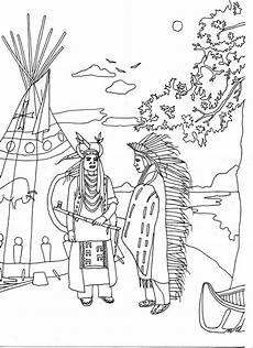 Ausmalbilder Indianer Pferd Free Coloring Page Coloring Two Americans By