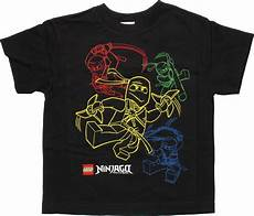 T Shirt Malvorlagen Kostenlos Ninjago Lego Ninjago 4 Color Outline Ninjas Youth T Shirt