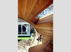 Modern wooden pavilion in the garden design will
