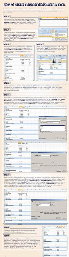 learn how to create a budget worksheet in excel step by step how to pinterest soccer
