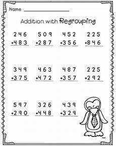 3 digit addition with regrouping 2nd grade math worksheets free math math